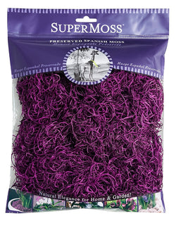 Fairy Garden Miniature  Spanish Moss  2 oz. Bag ~ Purple - Fairy Garden Fun