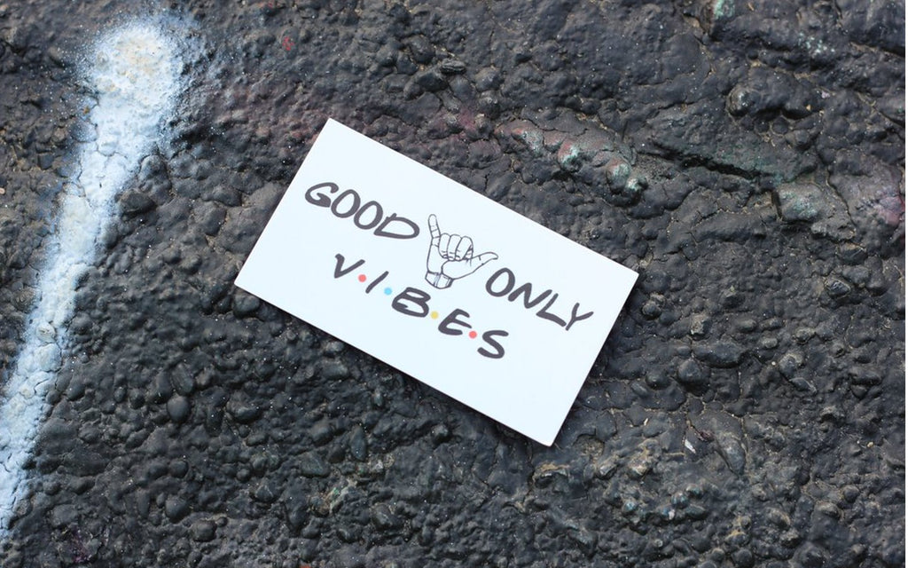 Good Vibes Only Business Card