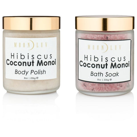 Hibiscus Coconut Monoi Bath Set