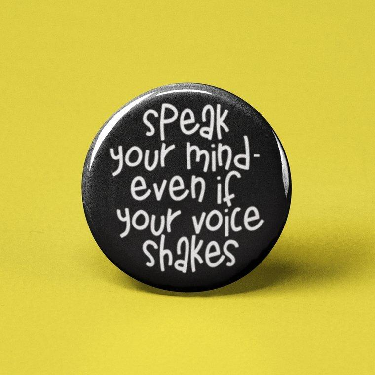 mental health pin, feminist pin, you got this you/'re doing better than you think button pin Cut yourself some slack