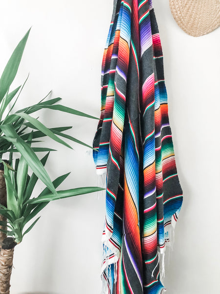 Handwoven Serape Blanket| Boho Home Decor