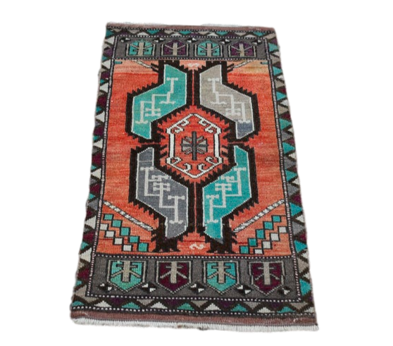Vintage Turkish Rug 1.7 x 3.4