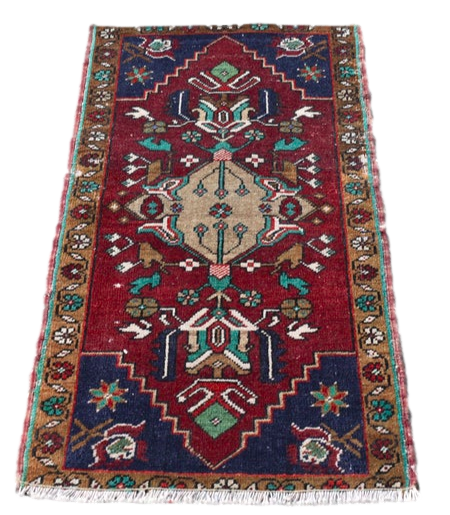 Vintage Turkish Rug 1.6 x 3.2