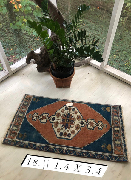 Mini Turkish Rug 1.4 x 3.4