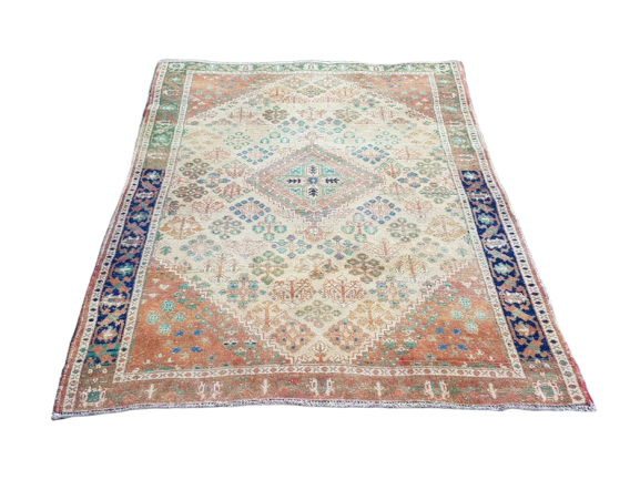 Vintage Turkish Rug 4.3 x 6.6