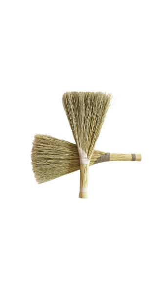 Blush Pink Turkey Wing Broom