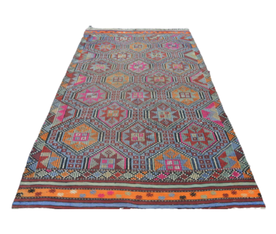 Vintage Turkish Kilim Rug 5.4 x 10.2