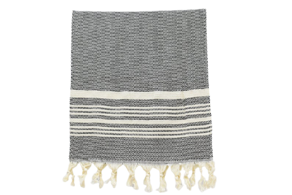 Turkish Hand Towel || Black + White