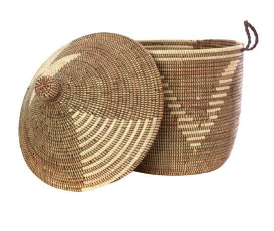 Small Lidded Basket || Senegal