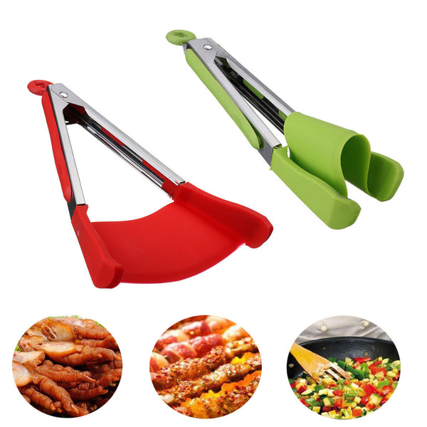 Genius! 2-in-1 Kitchen Spatula and Tongs Tool!