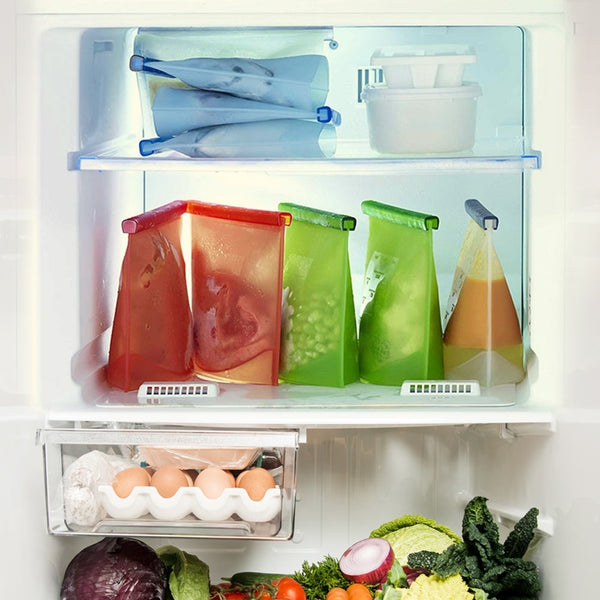 Reusable Leak-Proof Food Storage Bags