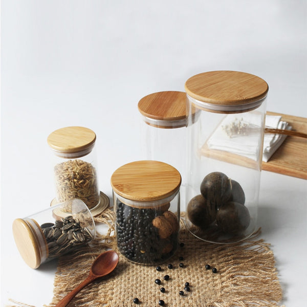 Eco-Friendly Glass Storage Jars