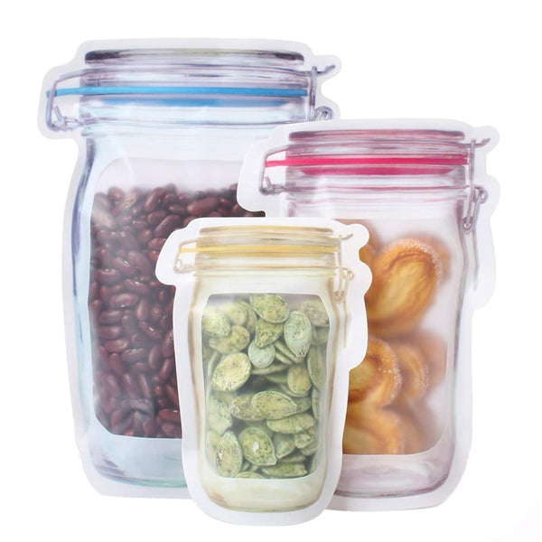 Set of 12 Mason Jar Reusable Food Storage Bags
