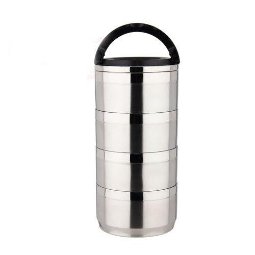 Stainless Steel, Leak-Proof 4 or 6 layer tiffin lunchbox