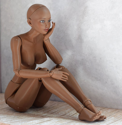 3D printed ball jointed doll Naomi (dark tan)