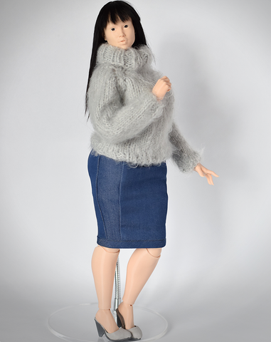 Denim pencil skirt for 1/4 Lidia