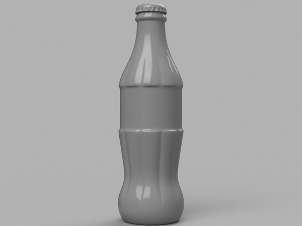 3D printable model - Coke bottle 1/4 MSD size