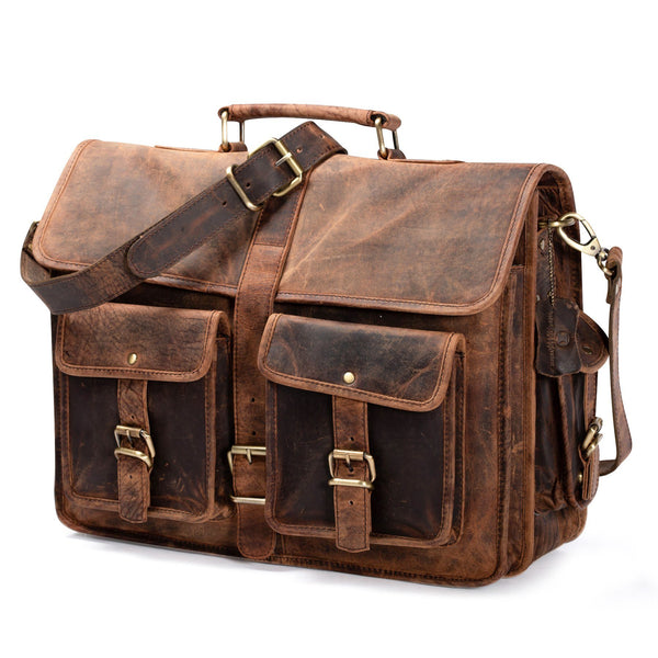 Shop Leather messenger bags