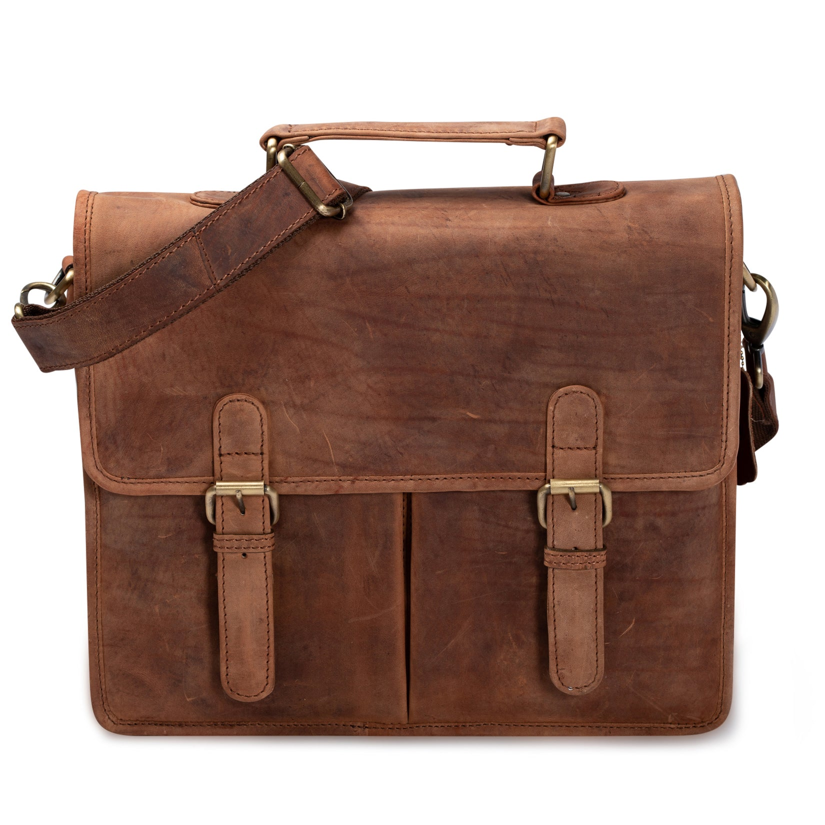 Leather Messenger Bag - Warren