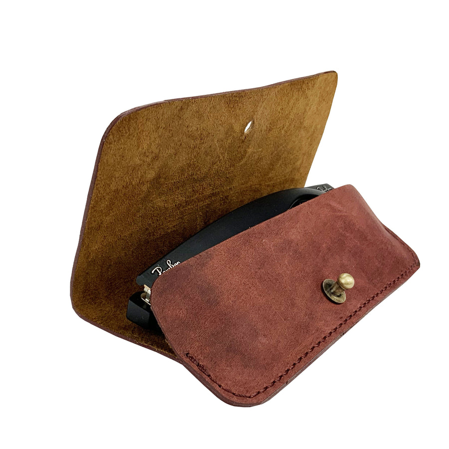 Leather Glass Case - Divo - Vintage Leather