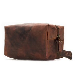Leather Toiletry Bag - Barker - Vintage Leather