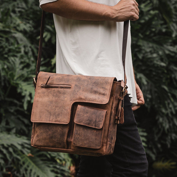 Leather Messenger Bag - Ipswich