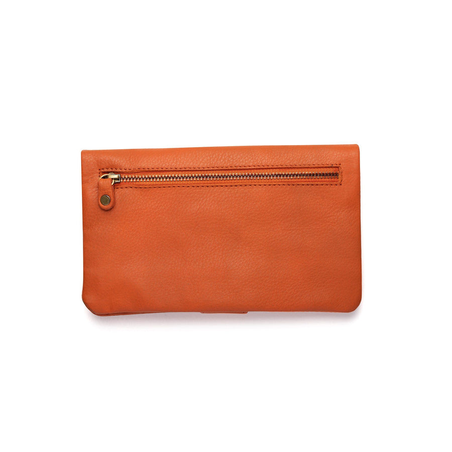 Leather Womens clutch purse