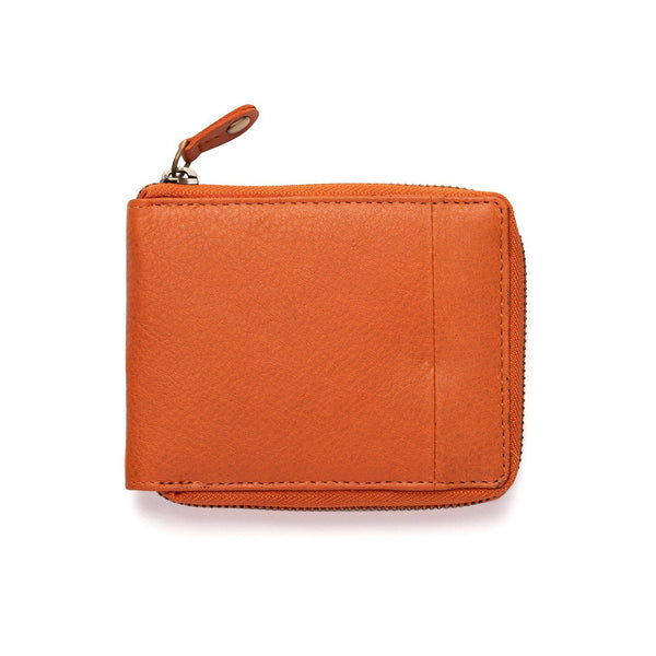 Mens Zipper Wallet Brown