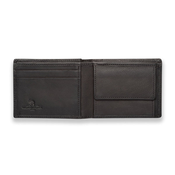 Mens Black Leather Wallet - Farrell
