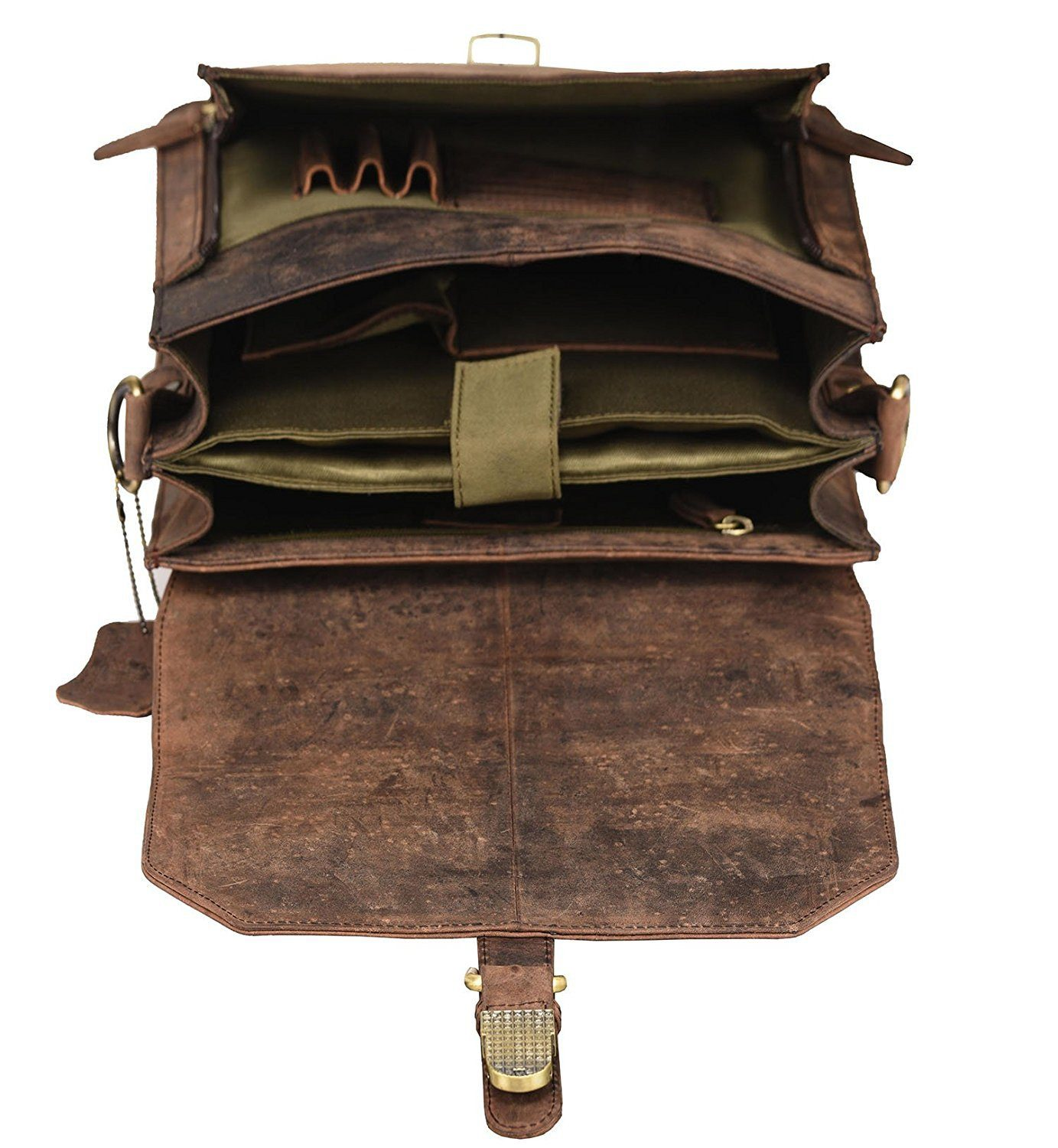 Leather Messenger Bag - James