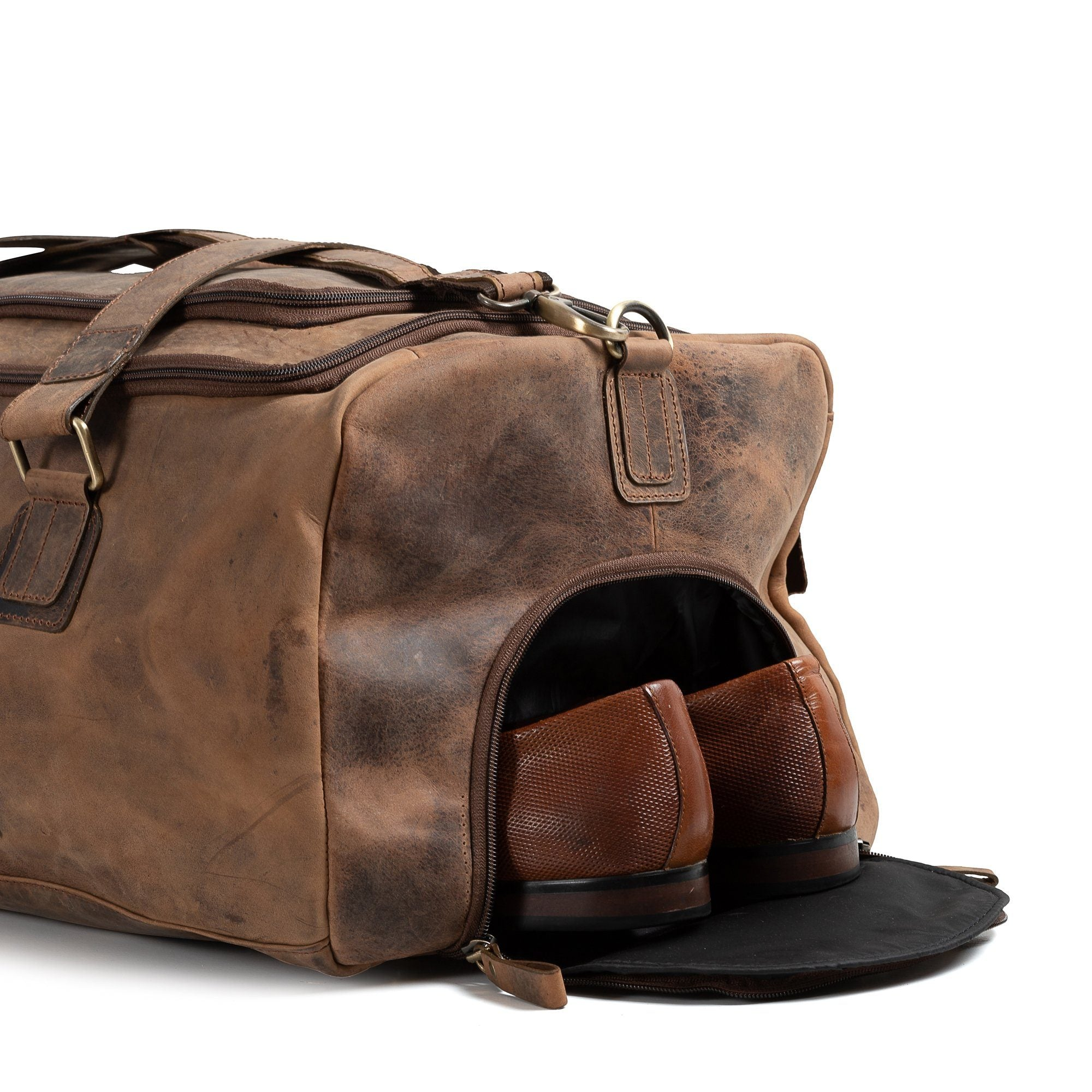 Vintage Leather Texas Duffle