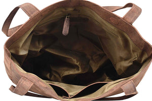 Leather Tote Bag - Byron Bay - Vintage Leather