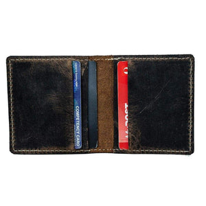 Leather Credit Card Wallet - Jade - Vintage Leather