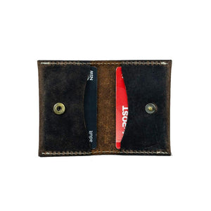 Leather Credit Card Wallet - Kade - Vintage Leather