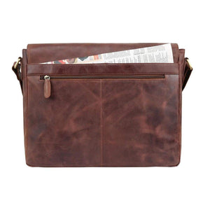 Leather Laptop Bag - Kingston - Vintage Leather