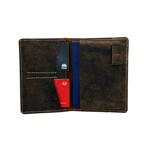 Vintage Leather _leather passport wallet_002
