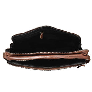 Leather Satchel Bag - Logan - Vintage Leather