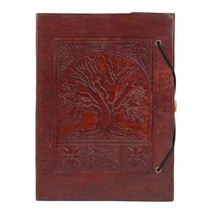 Vintage Handmade Leather Journal - Tree Of Life - Vintage Leather