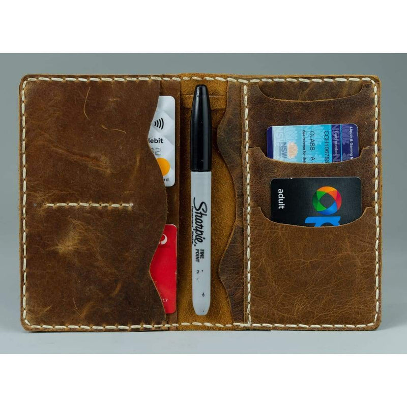 Vintage Leather Sydney_passport leather wallet_001