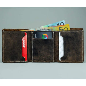Vintage Leather Mens Wallet -  Bain - Vintage Leather