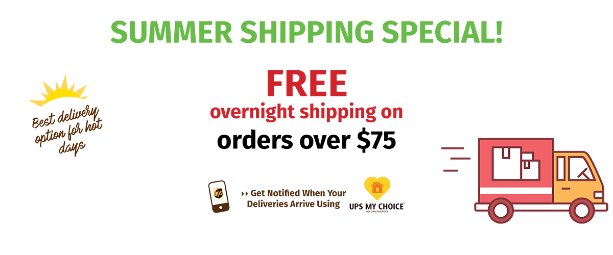 Free overnight shipping for orders over$75