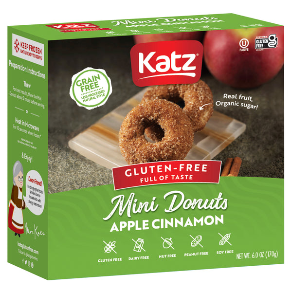 GRAIN FREE Mini Donuts, Apple Cinnamon, 10 per Box