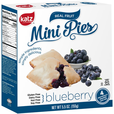 Katz Gluten Free Blueberry Mini Pies