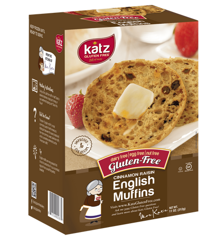 Katz Gluten Free Box Cinnamon Raisin English Muffins