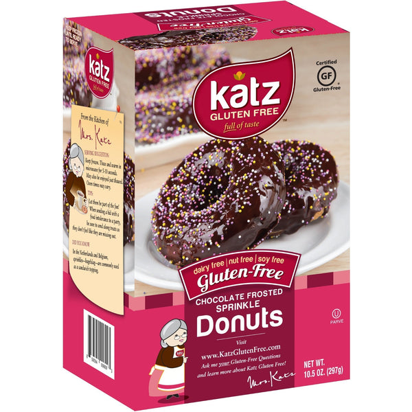 Katz Gluten Free Chocolate Frosted Sprinkle Donuts