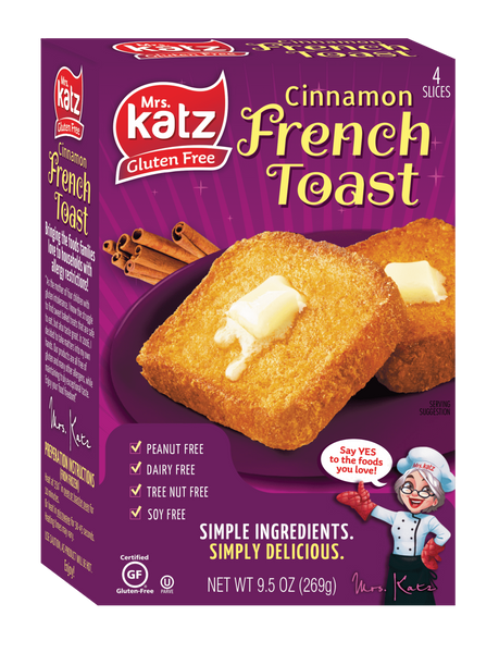 Katz Gluten Free Cinnamon French Toast - Sold In Retail Only