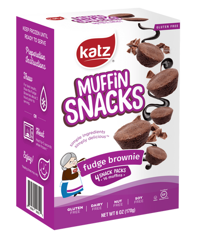 Katz Gluten Free Container Fudge Brownie Muffin Snacks