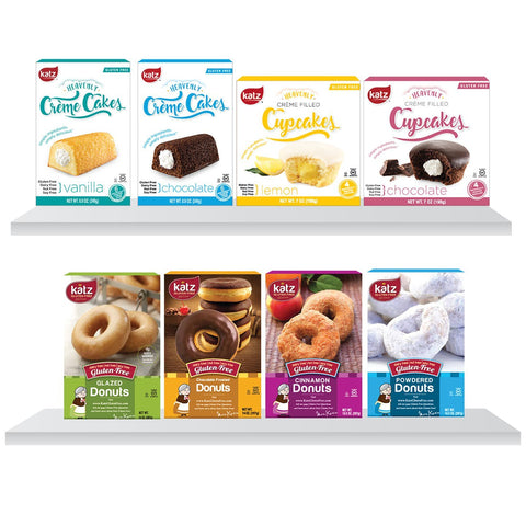 Katz Gluten Free Crème Cakes and Donuts  8 Pack