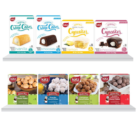 Katz Gluten Free Gluten Free Goodies Crème Cakes and Donut Holes 8 Pack