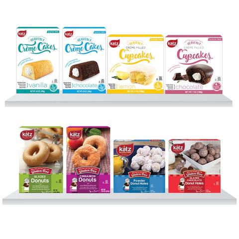 Katz Gluten Free Gluten Free Goodies Crème Cakes, Donuts and Donut Holes 8 Pack